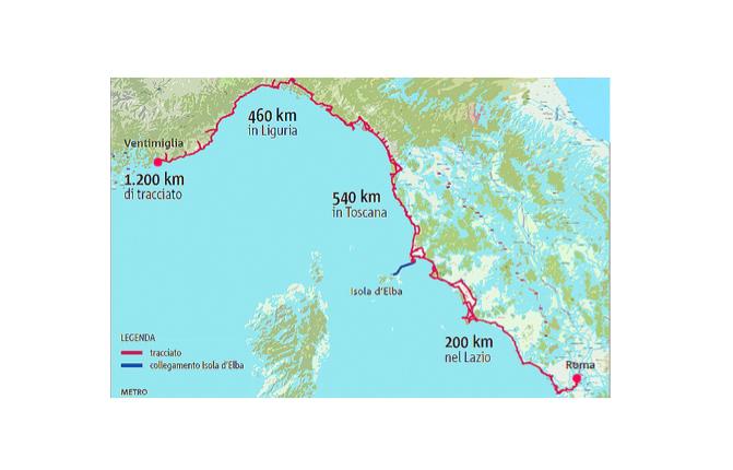 Ciclovia tirrenica, alla Liguria sei milioni di euro